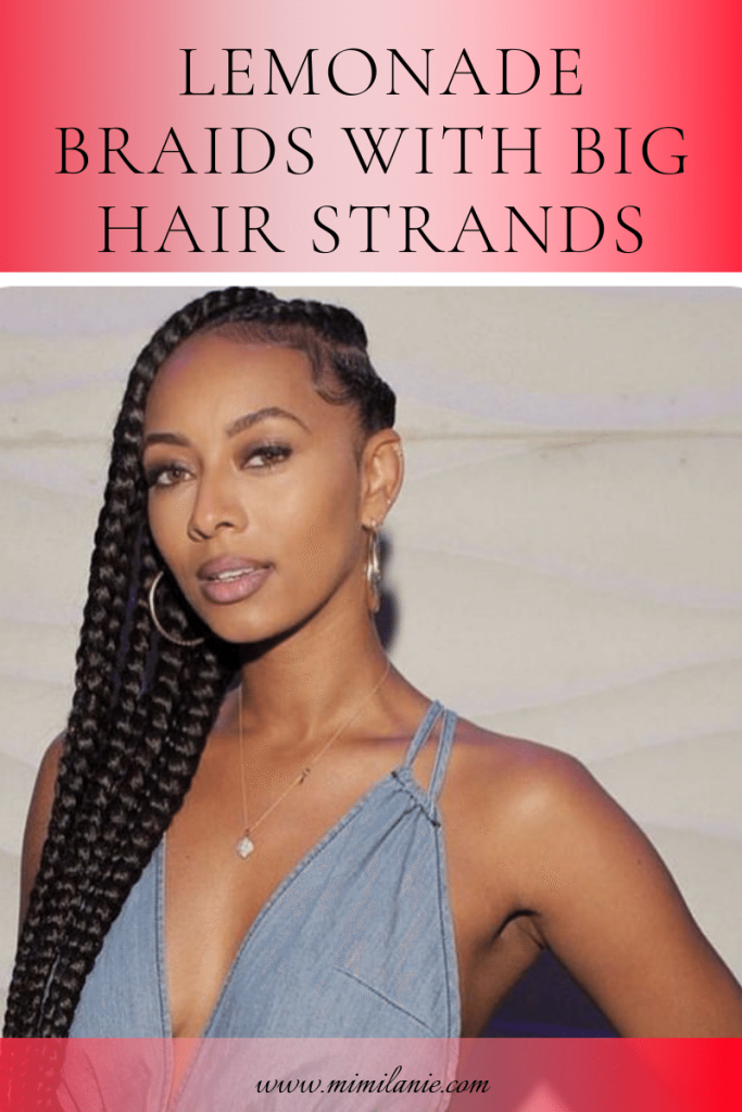 Lemonade Braids Hairstyles with big hair strands