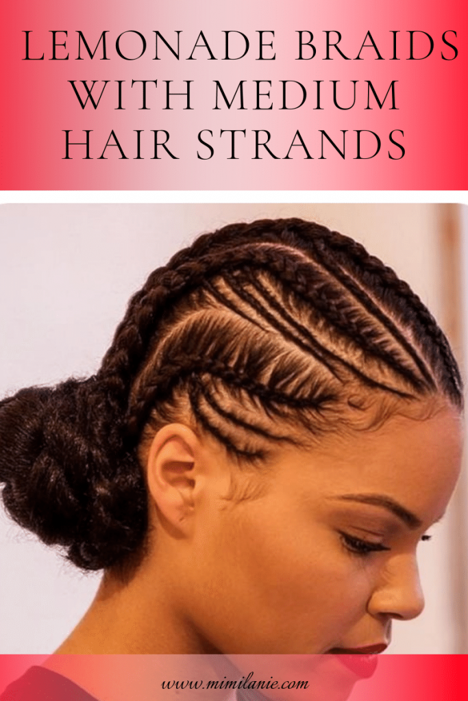 LEMONADE HAIRSTYLE WITH MEDIUM HAIR STRANDS