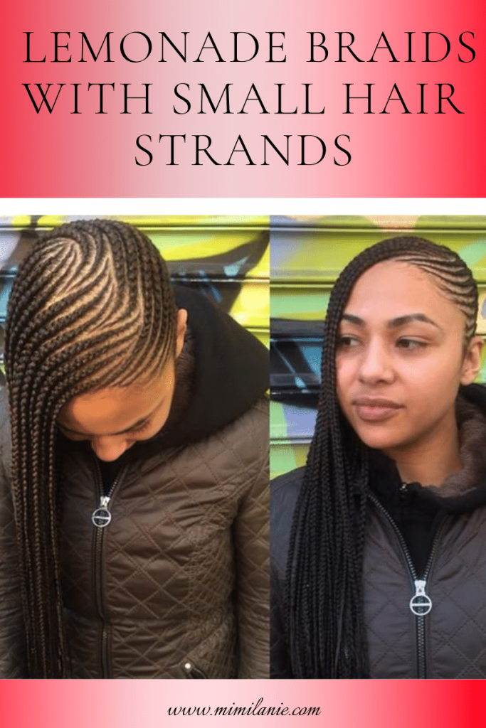 Lemonade Braids With Small Hair Strands